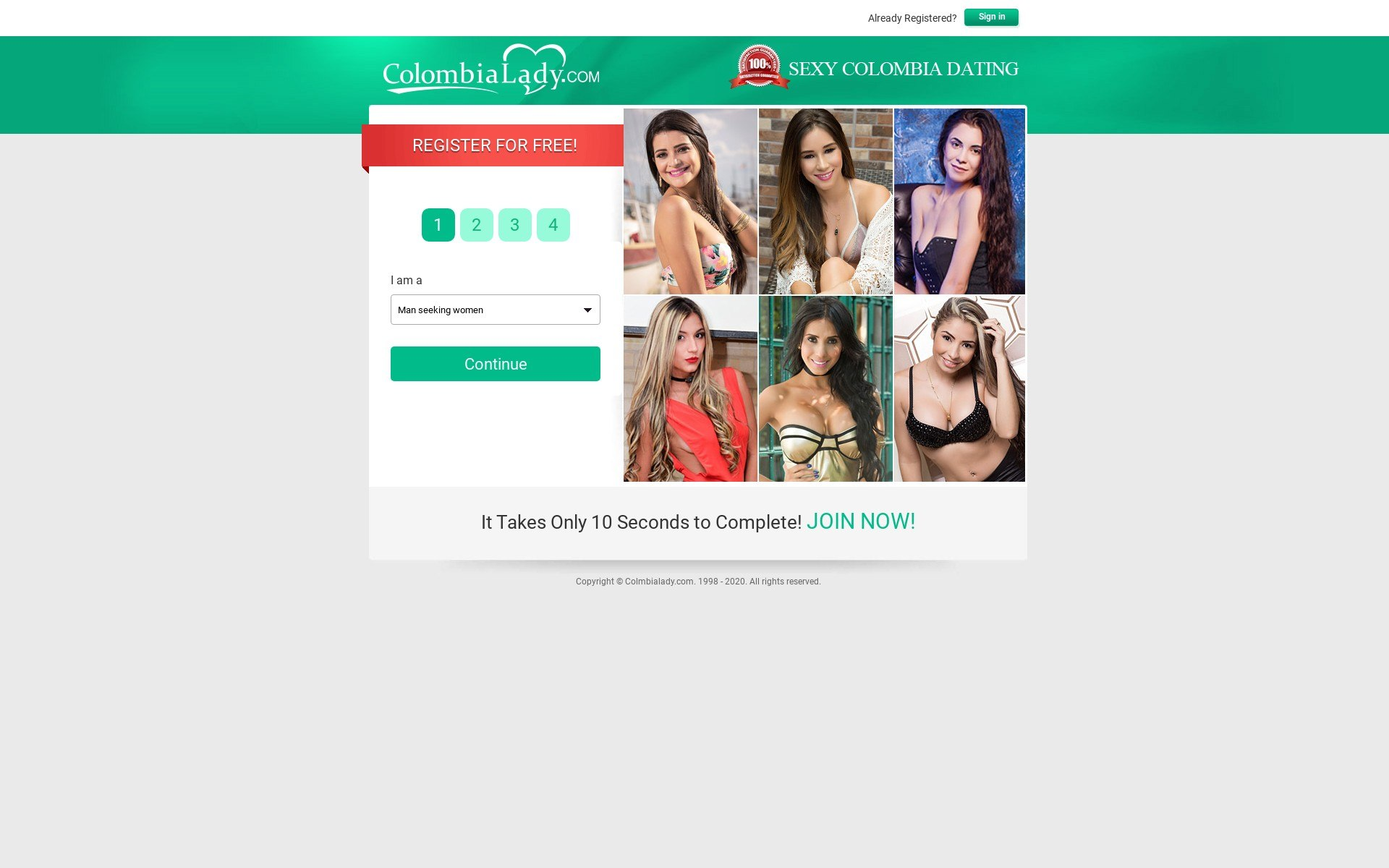 Review Colombia Lady Site